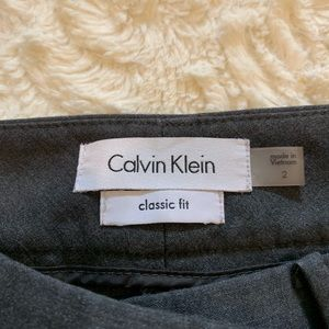 Calvin Klein Pants - Calvin Klein, gray classic fit dress pants